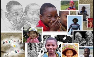 """Visueel van project """"SMILES OF THE WORLD - Les drôles de dames en quête de sourires"""""""