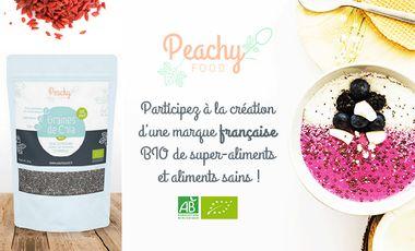 Project visual Peachy Food, marque française BIO de super-aliments