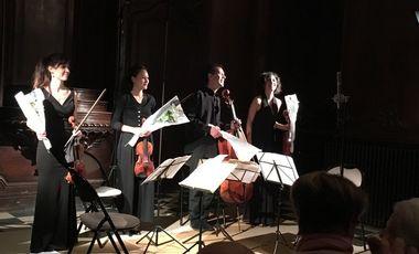 Visuel du projet Le Quatuor Capriccio vient d'enregistrer son premier disque!