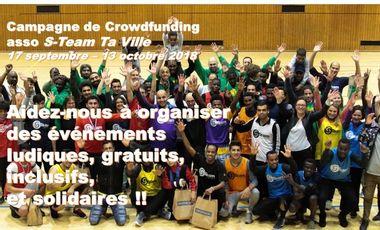 Project visual Aidez-nous à organiser des événements ludiques solidaires et inclusifs