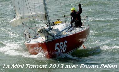 Visueel van project La Mini Transat 2013 avec Erwan Pellen