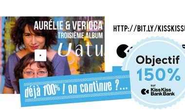 Visuel du projet Aurélie & Verioca, enregistrement du 3ème album : UATU