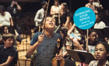 Visuel du projet Donnons pour Démos : à chaque enfant son instrument