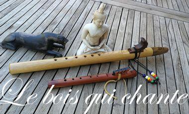 Project visual Atelier de fabrication de flûtes amérindiennes