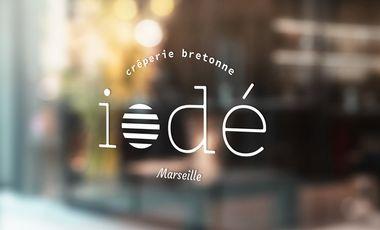 Project visual Iodé, une crêperie bretonne à Marseille