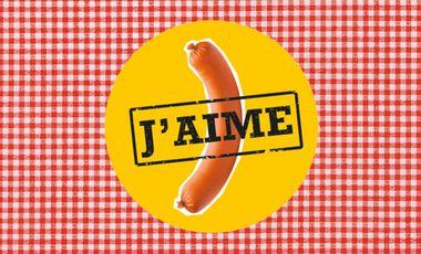 Project visual J'aime la saucisse