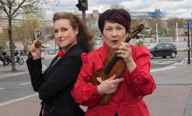 Project visual Improbable duo pour un violon