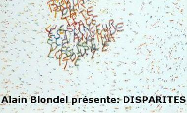 """Visueel van project Alain Blondel présente """"Disparités"""""""