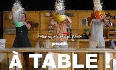 """Visueel van project Spectacle """"À Table !"""" / Cie du Lit qui Grince"""