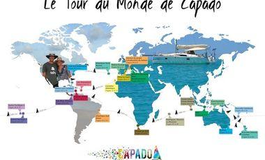 """Project visual Le livre """"Le tour du monde de Capado"""""""