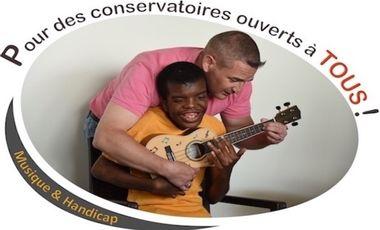 Visueel van project Musique & Handicap : pour des conservatoires ouverts à tous !