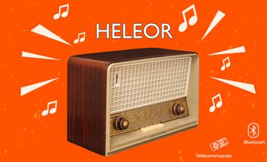 Visuel du projet HELEOR radio vintage bluetooth