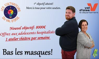 Visueel van project Bas les masques!