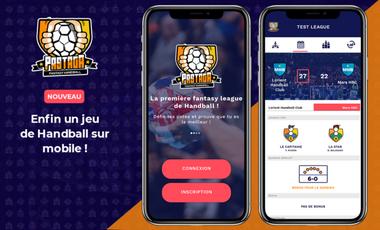 Project visual Pastaga - La première fantasy ligue de Handball débarque sur mobile !