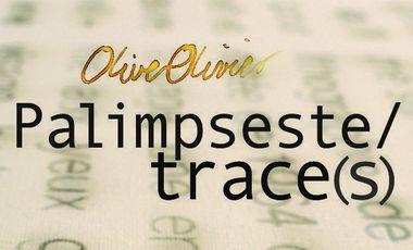 Project visual Palimpseste/trace(s)