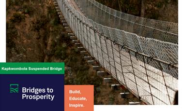 Visueel van project Bridges to Prosperity - Kapkwombola Uganda 2019