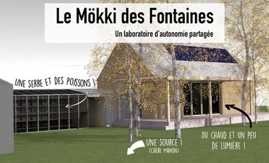 Project visual Le Mökki des Fontaines : a laboratory of shared autonomy