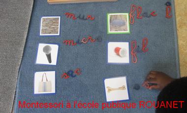 Project visual Montessori à l'école maternelle publique ROUANET