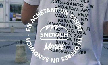 Visueel van project SNDWCH : En achetant un T-Shirt, tu offres un Sandwich !
