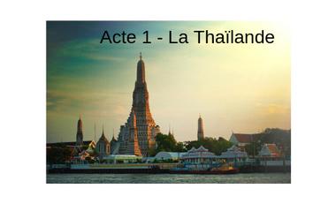 Project visual Connect by Sports :  Acte 1 - La Thaïlande