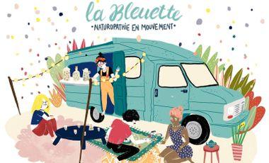 Visueel van project La Bleuette : l'herboristerie Ambulante