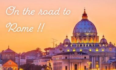 Project visual On the road to Rome !