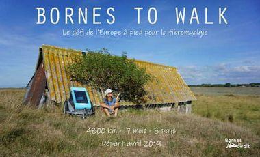 Project visual Moi et mon bolide à roulettes à travers l'Europe au profit de la fibromyalgie