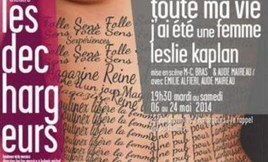 """Visueel van project """"TOUTE MA VIE J'AI ETE UNE FEMME"""", ON NE NAIT PAS SPECTACLE, ON LE DEVIENT !"""