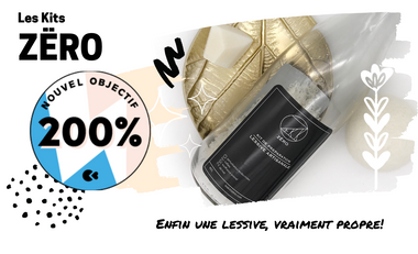 Visueel van project ZËRO, une lessive vraiment propre!