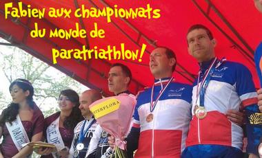 Visueel van project Fabien aux championnats du monde de Paratriathlon!
