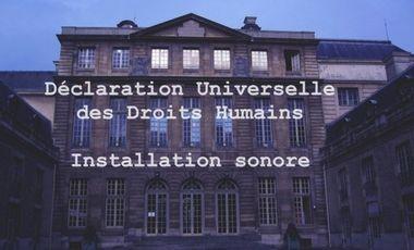 Visuel du projet Déclaration Universelle des Droits Humains DUDH