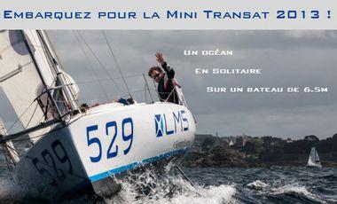 Visuel du projet Embarquez sur la Mini Transat 2013  avec Arnaud Chaigne!