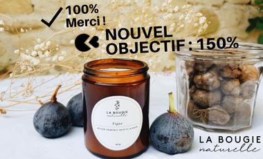Visueel van project La bougie naturelle : des bougies végétales faites à la main