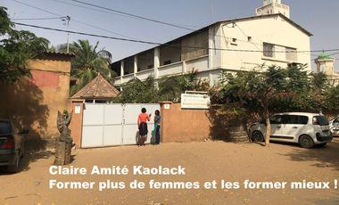 Project visual A Claire Amitié Kaolack, former plus de femmes, et les former mieux