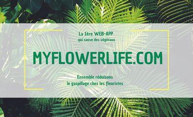 Visueel van project -- MY FLOWER LIFE -- 1ère Web-App qui lutte contre les invendus des fleuristes