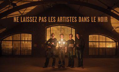 Visueel van project Ne laissez pas les artistes dans le noir !
