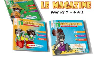 Visueel van project Ti racoonteur, votre magazine jeunesse