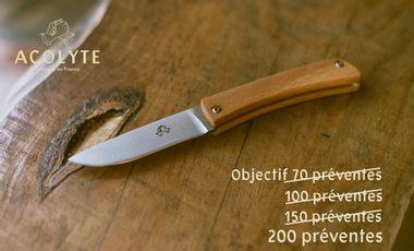 Visuel du projet Acolyte, le couteau de poche à fabriquer et à assembler soi-même