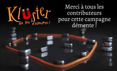 Visueel van project Kluster, a magnetik game!