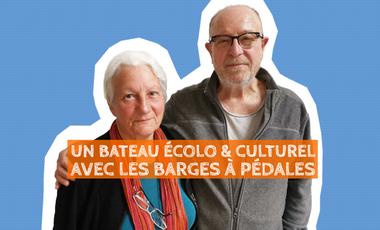 Visuel du projet Un bateau écolo & culturel : les Barges à pédales