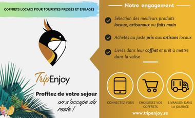 Visueel van project TripEnjoy, coffrets locaux pour voyageurs pressés et engagés