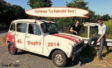 Visuel du projet 4L Trophy 2014 Benoît & Louis