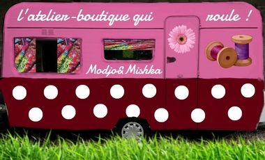 """Visueel van project Un atelier-boutique """"qui roule"""" pour Modjo&Mishka !"""