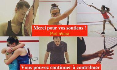 """Project visual Dans """"l'objectif"""" du squash français"""