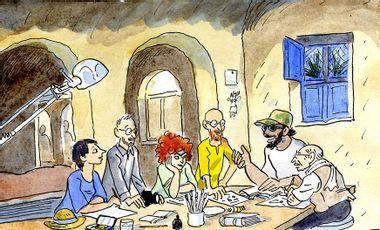 Project visual ATELIER BD CHEZ LES PHARAONS ! résidence d'artistes en Egypte