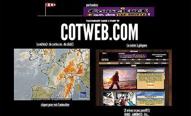 Project visual COTWEB pour aider les professionnels ou passionnés de la mer à être mieux informés de la météo entre autres