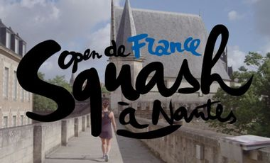 Project visual Open de France de Squash au Château des ducs de Bretagne de Nantes