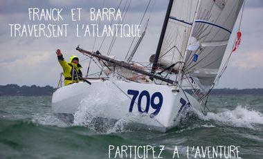 Visueel van project Franck et Barra traversent l'Atlantique