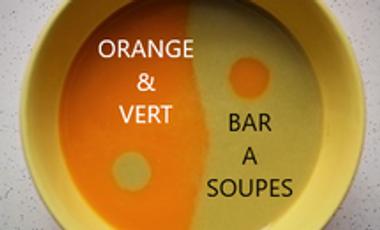 """Visueel van project SUPPENBAR """"Orange & Vert"""" Deutsch-Französischeküche und Gebäck."""