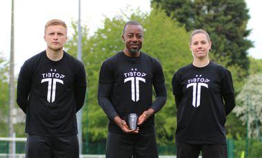 Visuel du projet Tibtop Connect, le 1er protège-tibia de football intelligent et personnalisable.